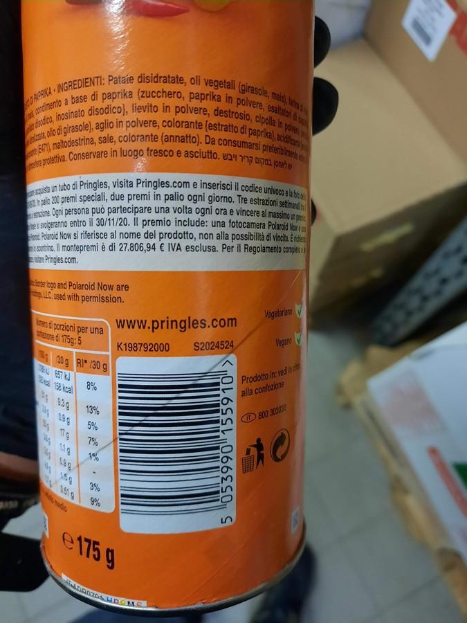 Patatine PRINGLES PAPRIKA 165gr - Seppi Onlineshop, 2,63
